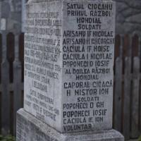 Dâmbovicioara - Monumentul Eroilor căzuți în primul și al doilea război mondial