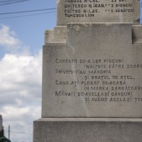 Rădești - Monumentul Eroilor în primul și al doilea război mondial
