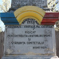 Ciocești - Monumentul Eroilor căzuți în primul război mondial