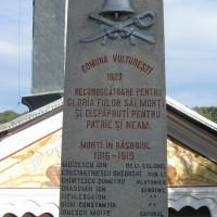 Vulturești - Monumentul Eroilor căzuți în Primul Război Mondial