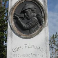 Păduroiu din Vale - Monument în cinstea eroilor căzuți în Primul Război Mondial (1916-1918)