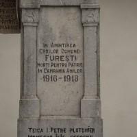 Furești - Monumentul Eroilor căzuți în primul și al doilea război mondial
