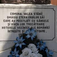 Valea Stânii - Monumentul Eroilor în primul război mondial