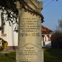 Slătioarele - Monumentul Eroilor din Primul Război Mondial