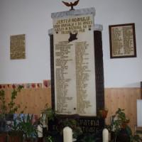 Curtea de Argeș - Placa comemorativă și monument ridicate în cinstea Eroilor orașului Curtea de Argeș, căzuți în Războiul de Întregire 1916-1918